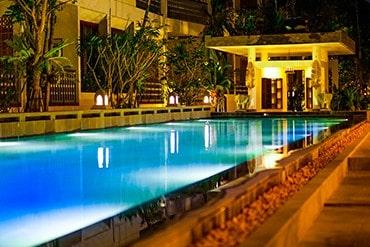 Montra Nivesha Pool at Night